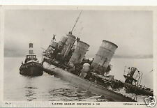 Postcard Shipwreck German destroyer G 102 salvage   1