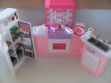 Barbie Size Dollhouse Furniture - Kitchen Set, New, Free Shipping
