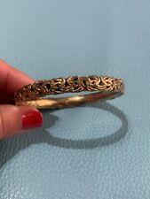 Vintage Sterling Silver Turkey Bangle Bracelet Jewelry U88