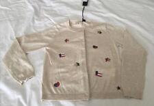 IKKS Designer French Girls size 6yrs CREAM SEQUIM EMBELLISHED CARDIGAN - NWT