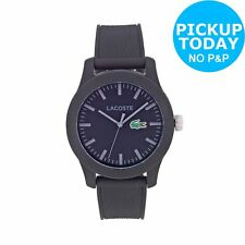 Lacoste Men's 12.12 Black Strap/Dial Water Resistant S/Steel Case Analogue Watch