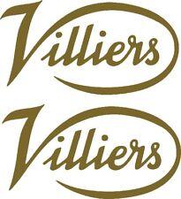 Villiers logo decal- car van trailer caravan stationary engine 2@ 10x5cm