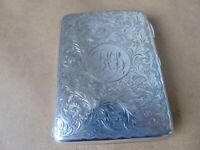 CHESTER PRETTY EDWARDIAN STERLING SILVER CARD CASE AIDE MEMOIRE PURSE 1903