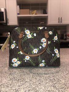 NEW  NWT Michael Kors Cindy Floral Dome Satchel Purse Hand Bag Crossbody