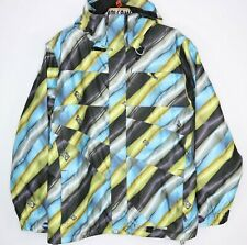 Volcom Publish Womens Size S Snowboard Jacket Blue Gold Silver