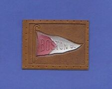 c1910s L21 tobacco / cigarette leather Boston University #1 pennant Nice!