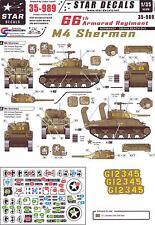 Star Decals 1/35 U.S. 66th TANK BATTALION M4 Sherman Tanks Omaha Beach Normandy