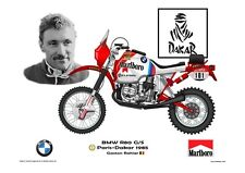 Greetings card Marlboro BMW R80 G/S 1985 #101 Gaston Rahier (BEL) Version 4