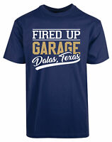 Fired Up Garage Dalas Texas New Men's Shirt Stylish Cool Personalized Casual Tee