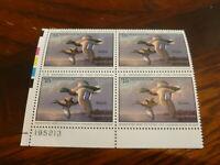 Mint NH  Federal Duck Stamp Plate Block Scott # RW 62