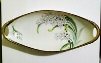 Tirschenreuth PT Bavaria Hand Painted and Signed Oval Relish Celery