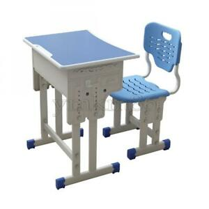 Height Adjustable Study Desk And Chair Set 3-18 Yr School Student Drawer Desktop