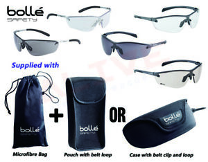 Bolle Safety Glasses SILIUM / SILIUM+ Spectacles Supplied with bag & case/pouch
