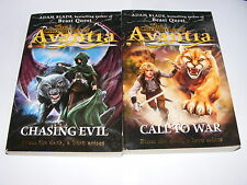 2 x Chronicles of Avantia novels by Adam Blade #2 Chasing Evil & #3 Call To War
