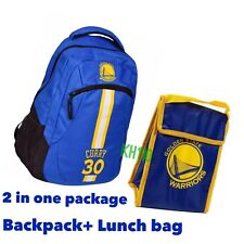 Golden State Warriors NBA Action Backpack School Book Gym Bag Stephen Curry #30
