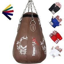 TurnerMAX Pelle Mais Borsa Punch Ball Montante MMA Sacco Da Boxe Marrone