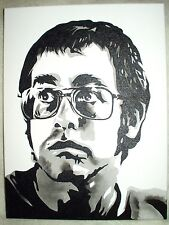 Canvas Painting Elton John Young B&W 16x12 inch Acrylic