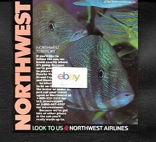 NORTHWEST AIRLINES 1988 LOOK TO US TROPICAL FISH IN CAYMANS-PUERTO VALLARTA AD