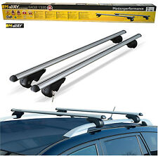 M-Way 135cm Lockable Aluminium Car Roof Rack Rail Bars for Suzuki Wagon R+ 97-05