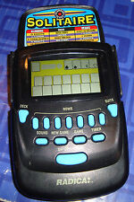 Fliptop SOLITAIRE Games Electronic Handheld Travel Game Flip Cover Pocket 2 in 1