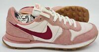Nike Internationalist Suede Trainers 828407-607 Pink/White/Gum UK6.5/US9/EU40.5