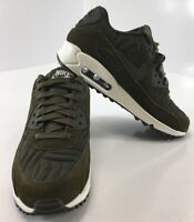 Nike Womens Air Max 90 Premium Sneakers Color Dark Loden/Ivory Size US:7 NEW #