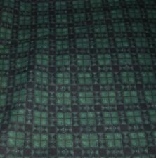 421A Debbie Mumm COTTON Flannel FabrIc GREEN NAVY PLAID 1-1/2YDS SSI