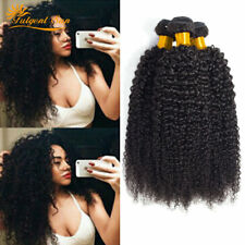 3 Bundles Kinky Curly Peruvian Hair Weave Human Hair Extensions 100 Unprocessed
