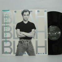 IGGY POP - BLAH BLAH BLAH LP 1986 JAPAN PRESS A&M STOOGES DAVID BOWIE w/ obi