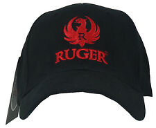 Authentic RUGER 3D Red Eagle Logo Embroidered L/XL Fitted Hat Cap NEW