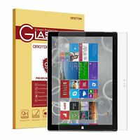 Surface Pro 3 Screen Protector, OMOTON Tempered Glass, [9H Hardness] [Crystal