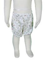JACADI Girl's Ladang Natural / Multicolor Cotton Graphic Shorts Sz 3 Months NWT