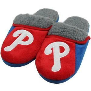 Philadelphia Phillies Slippers Sherpa MENS Team Logo by Forever Collectibles