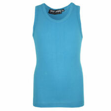 Vêtements bleus sans manches pour fille de 7 à 8 ans