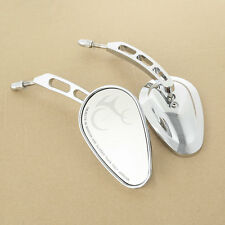 8mm Rear View Mirrors New Fit Harley Davidson Heritage Softail Road King Glide