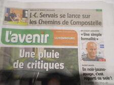 JEAN-CLAUDE SERVAIS : SE LANCE SUR LES CHEMINS DE COMPOSTELLE : 10/10/2014