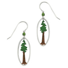 Sienna Sky California Sequoia Redwood Tree Pierced Earrings Handmade in Colorado