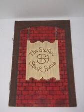 VINTAGE MENU THE STATLER STEAK HOUSE