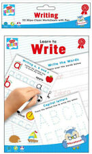 WIPE CLEAN EDUCATIONAL LEARNING BOOK TEACH MATHS, SPELLING, MULTIPLY OR WRITING