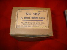 "Vintage Ademco Burglar Alarm 7/8"" No. 167 Wiring Nails ""Alarm Device Mfg. Co"""