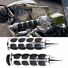 Pair 1'' Motorcycle Handle Bar End Hand Grips For Yamaha Suzuki Harley Honda US
