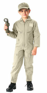 Kids Khaki US Air Force Style Military Flight Suit Rothco 7207