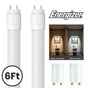 2x 6Ft Energizer T8 LED Tube Cool White / Daylight - 70w Fluorescent Replacement