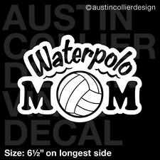 """6.5"""" WATERPOLO MOM vinyl decal car window laptop sticker - h2o h20 water polo"""