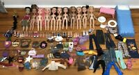 Huge  Lot Of 11 Bratz Dolls With Clothes Shoes Accessories Furniture And More!!