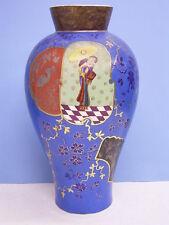 Jugendstil-Porzellanvase Um 1900 : la Main : Japan-Motiv : Geisha Avec