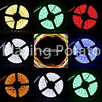 LumenWave 5M RGB 5050 SMD IP65 Waterproof LED Flexible Strip Lights - White PCB