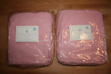 "Pottery Barn Kids Set 2 Tiered Ruffle Sheers PINK 84"" Length NEW in package"