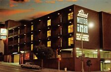 San Francisco California~Lombard Motor Inn~Night Lights~Us 101 Sign~1960s Cars