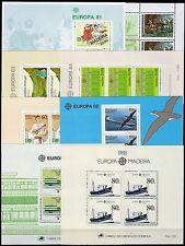 Portogallo, Madera - Lotto di 8 foglietti Europa, 1981/88 - Nuovi (** MNH)